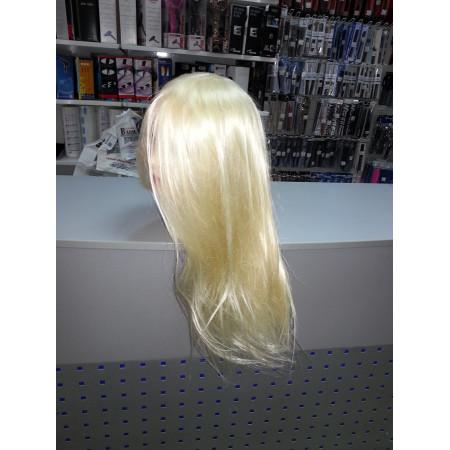 """Голова-манекен SPL искусственные волосы """"блондин"""" 50-55см + штатив 518/C-613"""