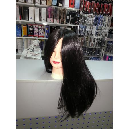 """Голова-манекен SPL искусственные волосы """"брюнет"""" 50-55см + штатив 518/C-1"""